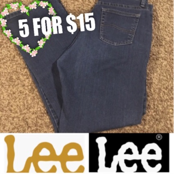 Lee Denim - 5 FOR $15 Lee Relaxed Fit Jeans (10 Short)